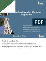 Litigation Involving Mortgage Origination