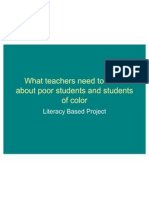 What Teachers Need to Know About Students of collor