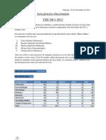 Acta de Result a Dos de Las Votaciones CES 2011-2012