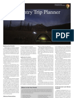 Back Country Trip Planner