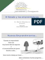 El Estado y Los Emprendedores - Cr M Dibarboure