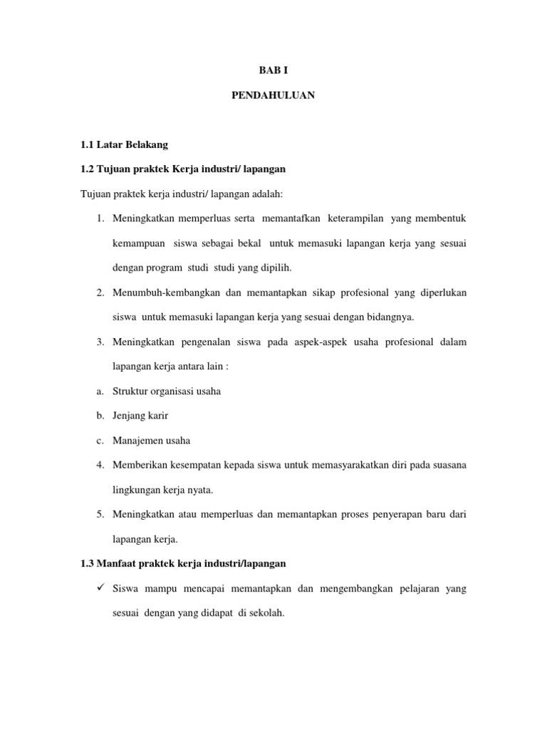 Contoh Laporan PKL di Kantor Pos