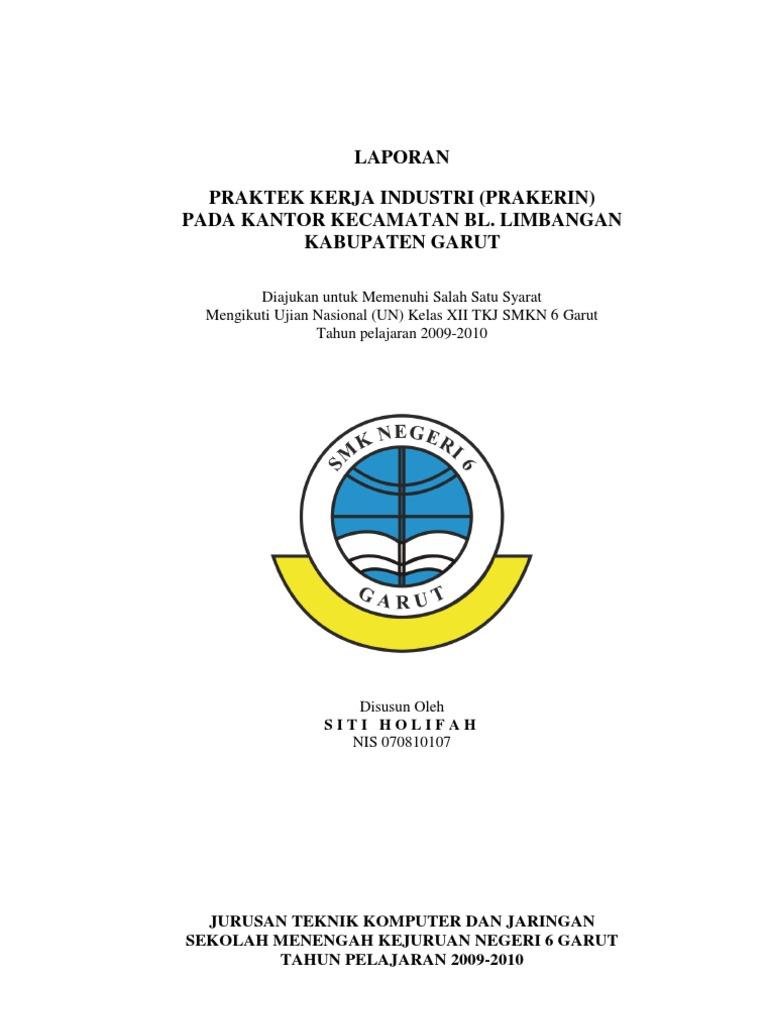 Doc Laporan Praktik Kerja Lapangan Pkl Lia Lusiana Academia Edu