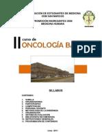 Oncologia Basica 2011 - Syllabus