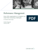 Performance Management for Local and Regional Government Organisations in England