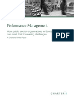 Performance Management for Public Sector Organisations in Scotland