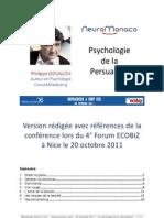 Psychologie de la Persuasion - Philippe GOUILLOU - ECOBIZ Nice 20 Octobre 2011