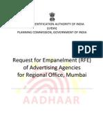 Rfe for Advertising Agencies Mumbai Ro