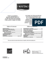 Maytag Top Loading Use and Care Guide - W10280467