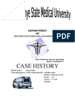 Case History of Infectious Diseaes