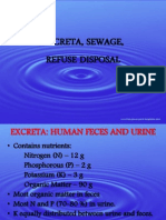 Sewage and Excreta Disposal