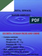 Sewage and Excreta Disposal