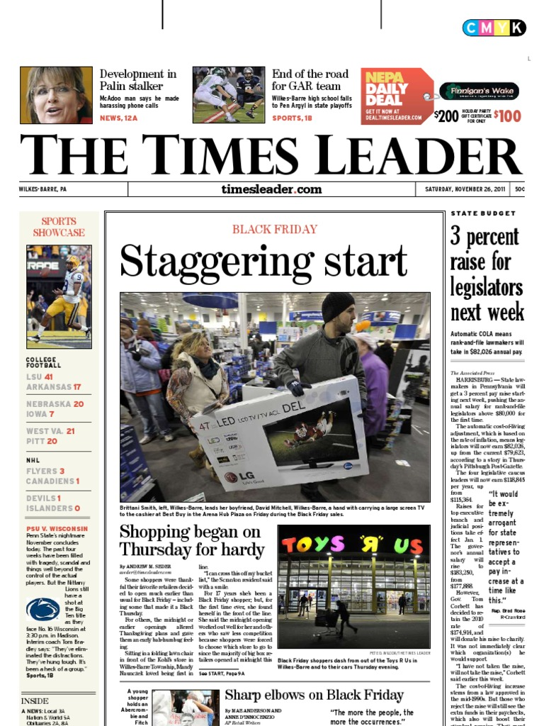 Times Leader 11-26-2011 | Small Business Administration | Iran–Contra Affair