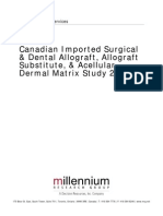 CBS Cdn Imported Surgical and Dental Allograft Allograft Substitute and Acellular Dermal Matrix Study 2010