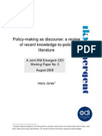 090911 Ikm Working Paper 5 Policy Making as Discourse