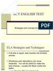Act Test and Study Notes