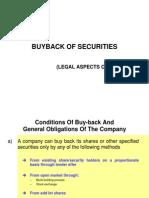 Buyback of Shares Vis-A-Vis m&A