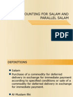 Accounitng for Salam and Parallel Salam