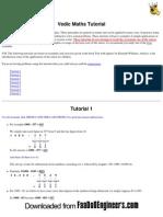 Vedic Maths Tutorials