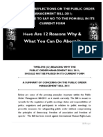 Summary of Pom Bill and Why You Have to Say No to It!