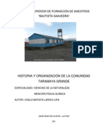 Historia de La Comunidad Taramaya