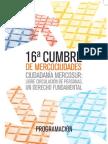 Programa 16ª Cumbre de Mercociudades (definitivo)