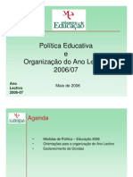 Organizacao Do Ano Lectivo 2006-2007