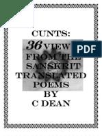 Cunts 36 views from the Sanskrit-erotic poetry