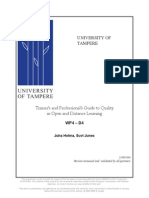 Trainer's and Professional's Guide to Qualityin Open and Distance Learning