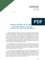 Aprendizaje Abierto y a Distancia Perspectivas UNESCO Sumario