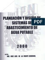 Planeación y diseño de sistemas de abastecimiento de agua potable