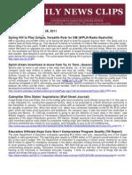 Sat., Nov. 26 News Summary