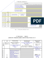 Timetable 2010