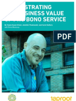 Demonstrating the Business Value of Pro Bono by Pro Bono Lab and The Taproot Foundation