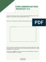 Condiciones Ambient Ales Para Producir f