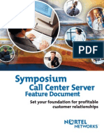 Symposium Call Center Server Feature Document