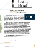 House Republican Conference Issue Brief - Myths About NAFTA