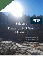 Selected Treasury 1603 Grant Materials