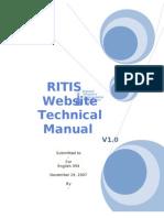 RITIS Website Technical Manual