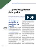 Les principes généraux du management de la qualité