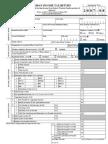 Income Tax Return Form 2007-08