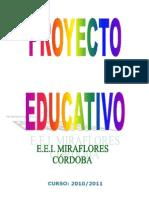 PROYECTO EDUCATIVO   E.I. MIRAFLORES