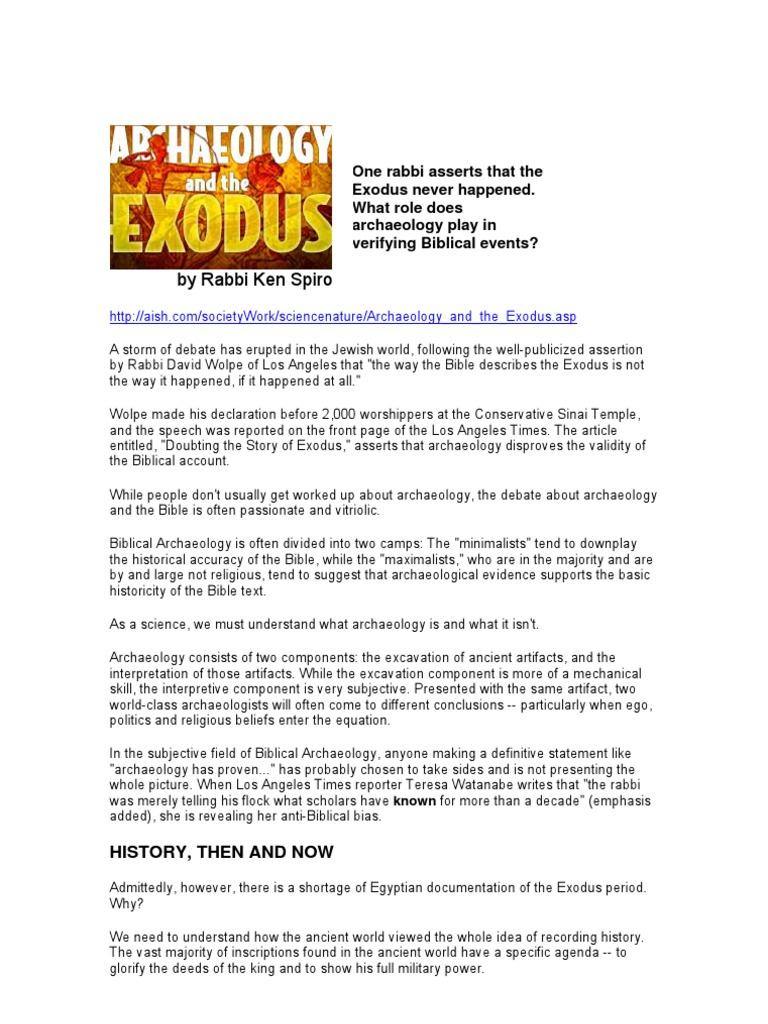 Redating the exodus and conquest john j bimson knife