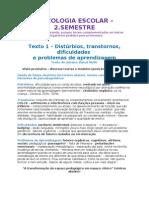 Resumo Psicologia Escolar - 3.ano - 2 semestre.
