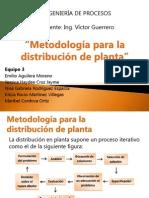 Metodología para la distribución de planta