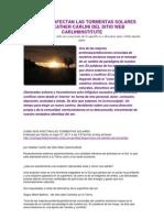 Como Nos Afectan Las Tormentas Solares Por Heather Carlini Del Sitio Web Carliniinstitute