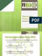 Elecciones FEULS 2012