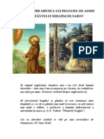 Comparatie intre mistica lui Francisc de Asissi si Sf Serafim de Sarov