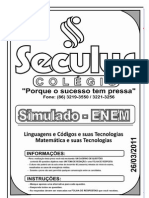 Simulado Enem - Linguagens e códigos e suas tecnológias & Matemática e Códigos e suas Tecnológias(2)