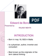 Edward de Bono Brief Description